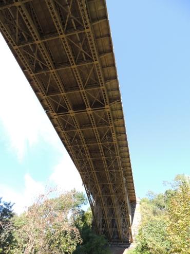 Underneath Panther Hollow bridge