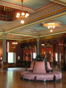 Pastel seat at Crocker Art Museum, Sacramento