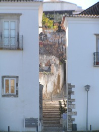 If in Tavira would you say you are going up steps