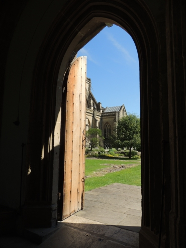 Opening from east cloister