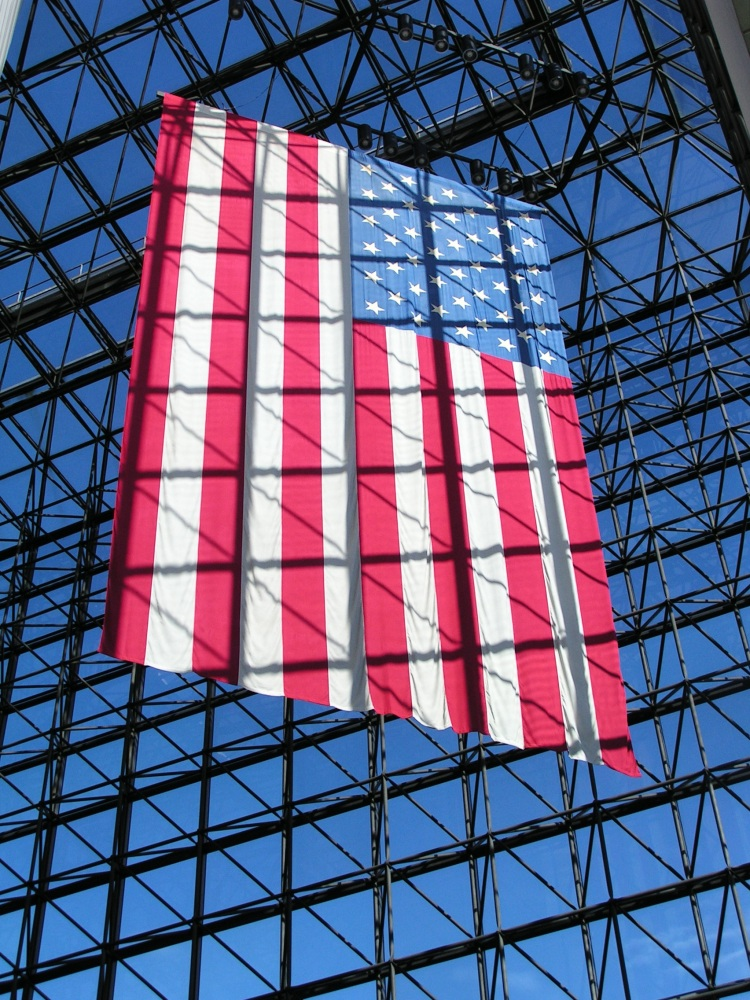 American Flag at JFK's Presidential Library