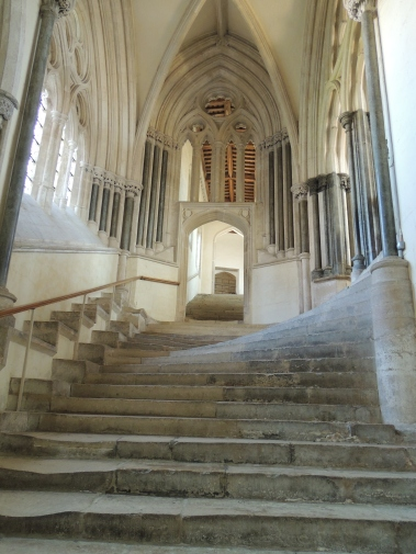 Stairs up to the Chapter House