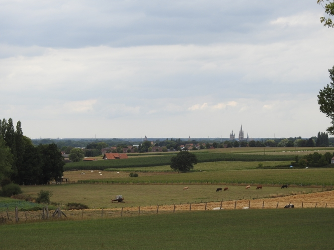 Looking across to Ypres