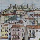 Lisbon roofs in tiles