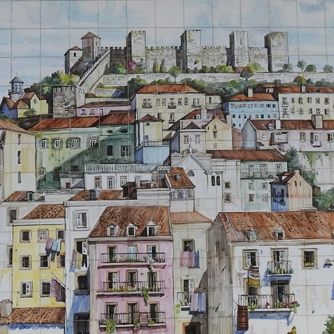 Lisbon roofs in tiles