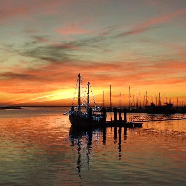 Sunset on 22nd December