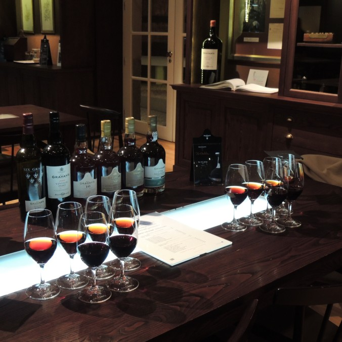 Our Tasting Table at Graham's Port