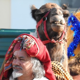 The Storyteller with camel reviewer