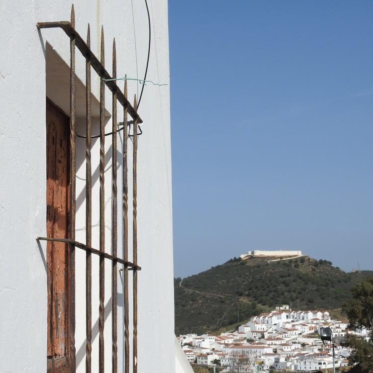 Looking across to Spain