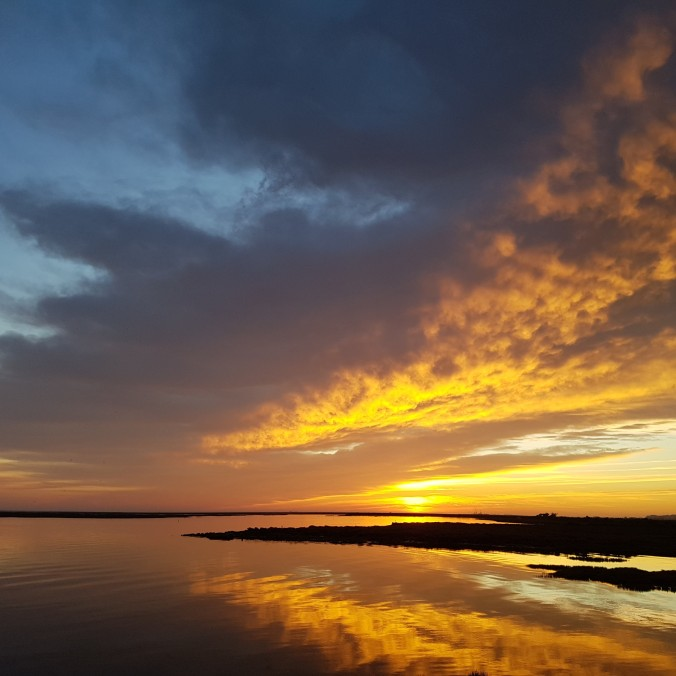 Sunset in the Ria Formosa