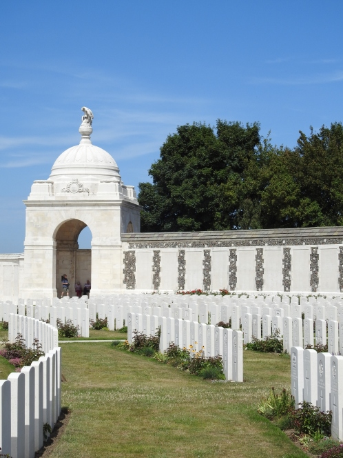 Looking towards the memorial