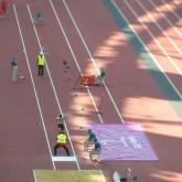 Running the long jump when blind