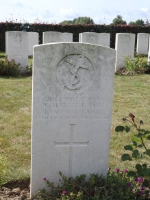 Able Seaman in Track X Cemetery near Ypres