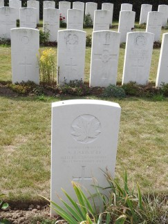 Canadian in Track X Cemetery near Ypres