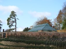 Walled Garden with Greenhouse beyond