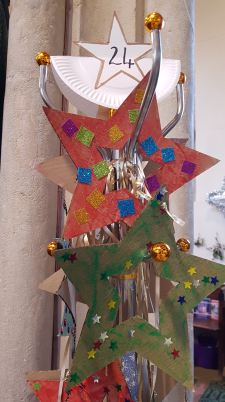 Stars on a coatstand